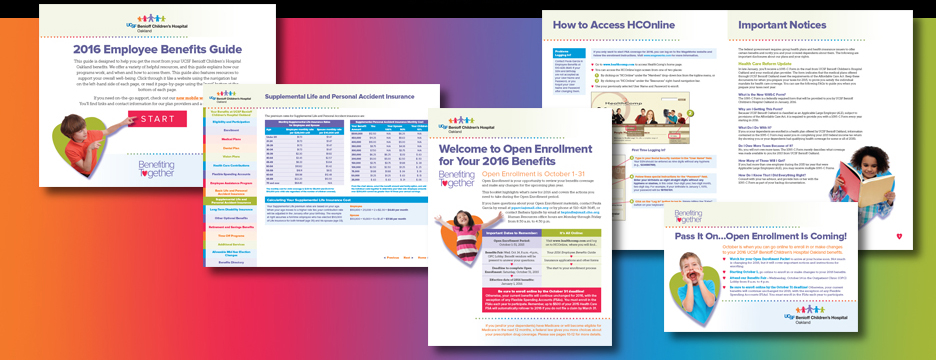Open Enrollment Materials for Children's Hospital & Research Center, Oakland