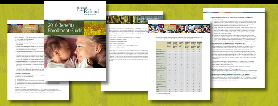 Enrollment Guide for David & Lucile Packard Foundation