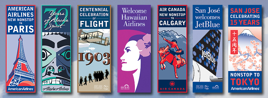 Banners for Mineta San Jose International Airport