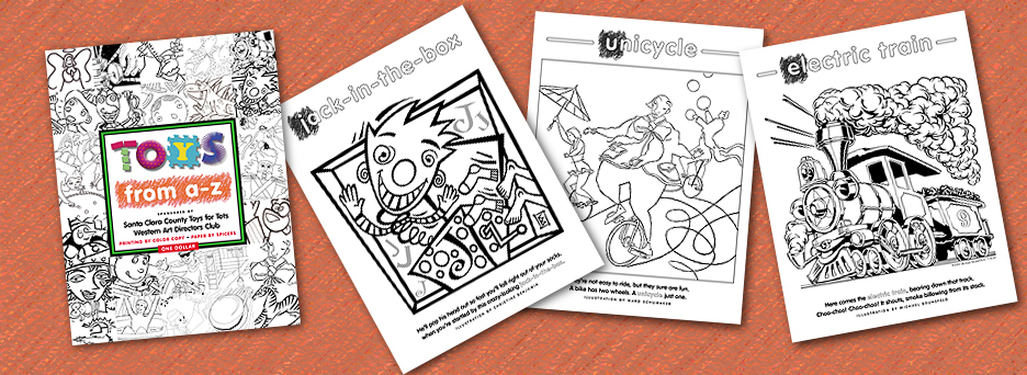 Toys From A-Z Coloring Book